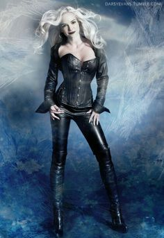 amazing fan art of Caitlin Snow as Killer Frost - The Flash CW Danielle Panabaker