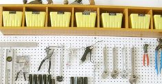 How to install a pegboard - Garage Organization
