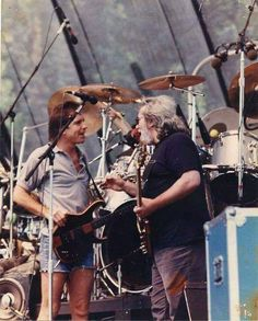 Jerry Garcia and Bob Weir John Perry Barlow, Jerry Garcia Band, Mickey Hart, Grateful Dead Music, Bob Weir, Classic Blues, Dead And Company, The Jam Band, Frank Zappa