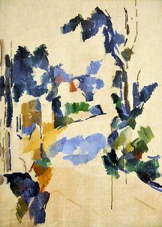 Paul Cezanne, Study of Trees, 1904