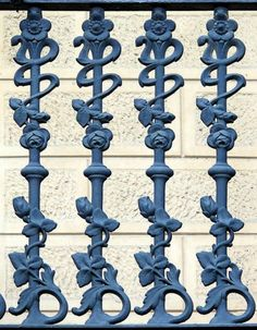 Литой забор чугунный №54
