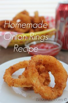 Homemade Onion Rings Recipe - This is a great recipe! Homemade Onion Rings are an easy and quick side dish that taste better than takeout. Onion rings are not hard to make yourself! Homemade Onion Rings, Onion Rings Recipe, Low Carb Diets, Food Network, Great Recipes, Favorite Recipes, Quick Side Dishes, Good Food, Yummy Food
