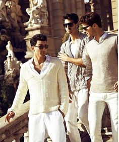 For the guys more summer look.  Everything white.
