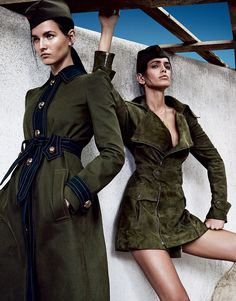 Amanda Wellsh, Katlin Aas, Aleah Morgan, Alina Ilie, Antonia Vasylchenko by Emma Summerton for Vogue Japan June 2015 4 Military Trends, Military Chic, Military Looks, Military Women, Look Fashion, Trendy Fashion, Fashion News, High Fashion, Military Inspired Fashion