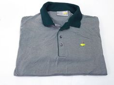 Augusta National Golf Shop XL Slazenger Men's Short Sleeve Green White Stripe #AugustaNationalGolfShop #PoloRugby