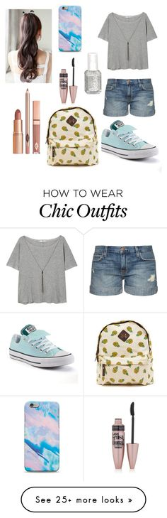 """""""Casual Easy"""" by soph13-13 on Polyvore featuring MANGO, Current/Elliott, Essie, Converse, Dolce Vita and Maybelline"""