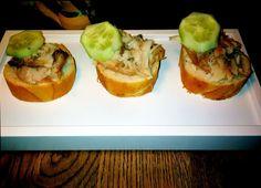 Sandwich with smoked mackerel