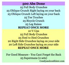 500 rep ab routine. Six pack here I come!