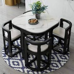 Space Saving Dining Table, Dinning Table Design, Unique Dining Tables, Kitchen Room Design, Home Room Design, Home Decor Kitchen, Interior Design Kitchen, Bedroom Furniture Design, Home Decor Furniture