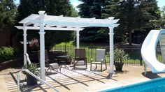 Create your own outdoor room, a sanctuary, with our 12 x 12 Regency Pergola. The Regency Pergola is crafted with premium vinyl and is maintenance free. Best of all? It is covered with an industry-firs