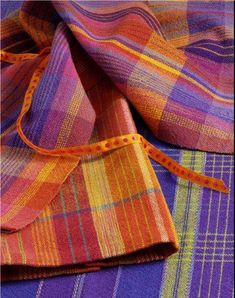 Aurora Earth Happy Towels - weaving kit at cotton clouds. I'd like to make it in the orange/purple combination