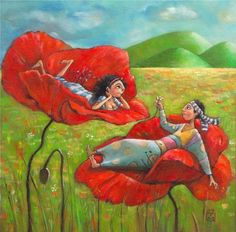 Gentil Coquelicot Mesdames ♫... #Poppies -- By Mariana KALACHEVA