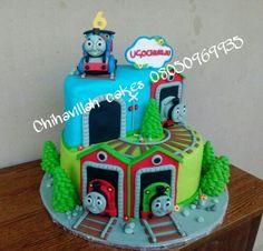 Thomas train cake by Chihavillah Thomas Train, Thomas The Tank, Birthday Cake, Cakes, Desserts, Tailgate Desserts, Deserts, Thomas The Train Clothing, Cake Makers