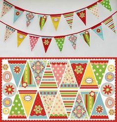 Includes Panel, Backing & 4 mts of Cotton tape & instructions for quick easy sewing.. - Riley Blake Bunting Kit., £16.99 (http://www.beccasfabriclarder.com/riley-blake-1/)