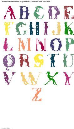 Alfabeto delle silhouette