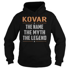 KOVAR The Myth, Legend - Last Name, Surname T-Shirt