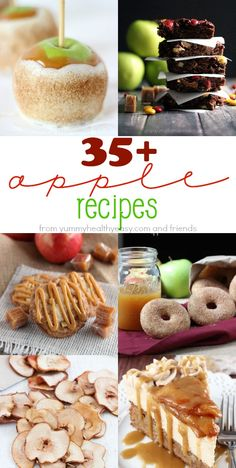 Here are 35+ Apple Recipes that are absolutely perfect for fall, ranging from apple chips and doughnuts to muffins and coffee cake!