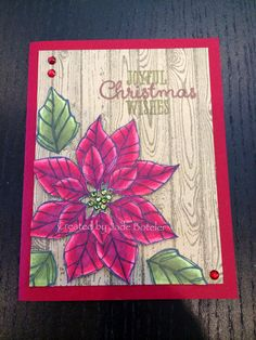 Blendabilities on rhinestones and poinsettia Stamped by Jade Boteler