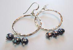 Freshwater Pearl Sterling Silver Hammered Hoop Earrings – Beth Lerner Jewelry http://bethlernerjewelry.com/collections/earrings/products/freshwater-pearl-sterling-silver-hammered-hoop-earrings