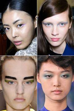 Spring runway beauty trends: pastel eye color