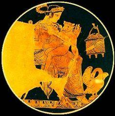 Persephone with her son Zagreus, Η Περσεφόνη με το γιο της Ζαγρέα