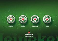 Silver - Best Beer Ad, Open your world, Heineken, Bernstein Werbeagentur Ads Creative, Creative Advertising, Advertising Design, Creative Ideas, Brand Campaign, Beer Brands, Poster Layout, Best Beer, Bartender