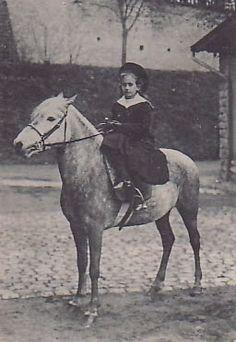 Princess Antonia, daughter number 4, on horseback.