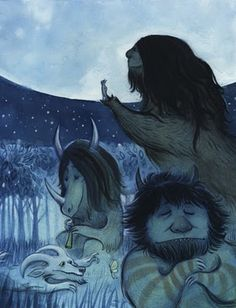 a collection of artwork inspired by Where the Wild Things Are