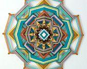 Holy Mandala!! Heart of Gold, 18 inch, 12-sided yarn mandala, by custom order