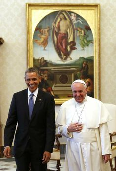President Obama and Pope Francis meet for the first time, Thursday, March 27, 2014.