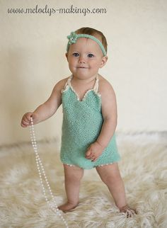 Vintage Romper~ #knit pattern by Melody's Makings.  #handmade