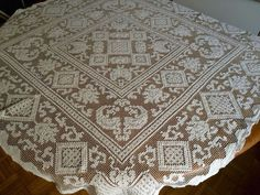 VTG Scandinavian Swedish Handmade Linen Lace Tablecloth Fabric 20th Century | eBay