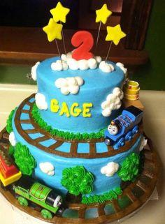 Thomas birthday train cake