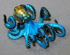 "AWESOME BRONZE OCTOPUS ""Oliver Octopus"" Figurine Statue Sculpture Aquatic Art / Limited Edition / Signed & Numbered"