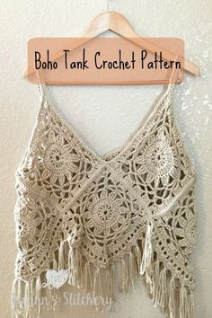 I love this fun, funky, fring-y Boho Tank Top Crochet Pattern! It's super cute layered with long necklaces over a sundress. You could even use cotton yarn and wear it over a bathing suit. It …