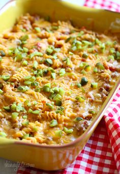 Cheeseburger Casserole – kid friendly and easy to make!