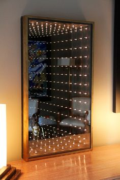 View this item and discover similar wall mirrors for sale at - Original and authentic Infinity mirror, black painted wood structure, brass framed. When the mirror is illuminated, it creates the illusion of infinity Infinity Table, Infinity Lights, Led Infinity Mirror, Infinity Room, Led Mirror, Mirror Image, Sunburst Mirror, Infinity Spiegel, Wall Mirrors For Sale