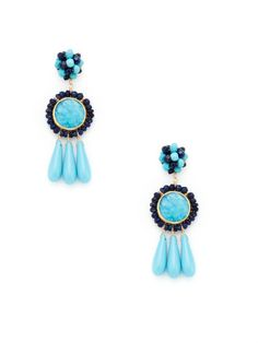 Charlotte Turquoise & Lapis Earrings by KEP on Gilt.com