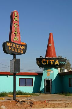 La Cita Restaurant, Tucumcari, New Mexico.  I have fond memories of a road trip here, not necessarily this restaurant