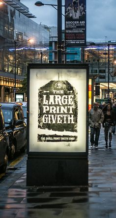 """The Large Print Giveth, The Small Print Taketh Away."""