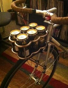 A gentleman's bicycle beer holder. #geek