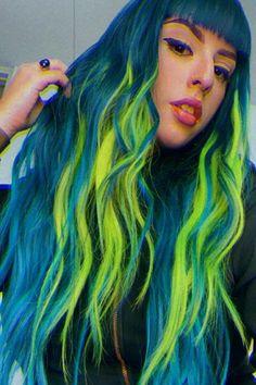 "arcticfoxhaircolor ""Blue Jean Baby"", ""Transylvania"" & ""Aquamarine"" on @reinaestrellap Dyed Hair Blue, Yellow Hair, Hair Color Blue, Blue Yellow, Arctic Fox Hair Color, Bright Hair, Aquamarine Blue, Free Hair, Hair Goals"