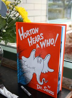 Oh Baby! Shower Decor...the blog: baby shower - horton hears a who as a guest book