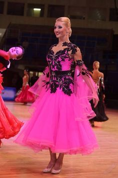 hot pink standard gown