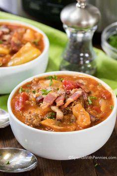 Crock Pot Cabbage Roll Soup combines cabbage onion beef & simmered in a rich beef & tomato broth in your slow cooker. An easy family meal. Crockpot Cabbage Roll Soup, Cabbage Roll Casserole, Detox Soup Cabbage, Crock Pot Cabbage, Chicken Casserole, Lazy Cabbage Rolls, Cabbage Rolls Recipe, Cabbage Recipes, Cabbage And Noodles