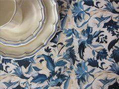Hadley Table Acrylic Blue with Gien