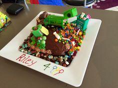 Riley's 4th Birthday Garbage Truck Cake