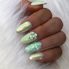 ✨✨ • • • • • Cuteshorties#nails#nailart#naturalnails#MargaritasNailz#vetrogel#nailfashion#almondnails#naildesign#nailswag#nailedit#nailcandy#nailprodigy#ombrenails#nailsofinstagram#nailaddict#nailstagram#chromenails#instagramnails#nailsoftheday#nailporn#ombrechrome#modernsalon#unicornnails#modernnails#naildesigns#pastelnails#greenchrome#pastelgreen#springnails#glitternails