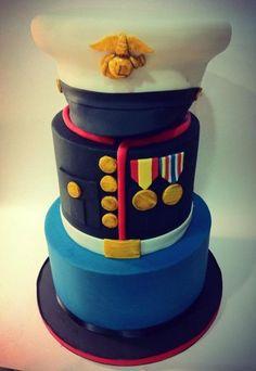 Groom's Cake for a Marine (deigned by hotmamascakes)
