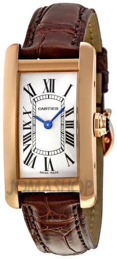 Easter Bunny, I do love the jelly beans, but could you also drop this in my basket? Cartier Tank Americaine 18kt Rose Gold Ladies Watch W2607456